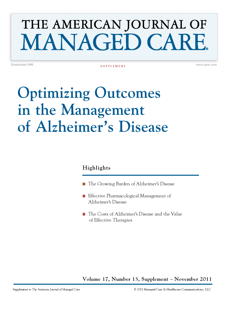 Optimizing Outcomes in the Management of Alzheimer's Disease