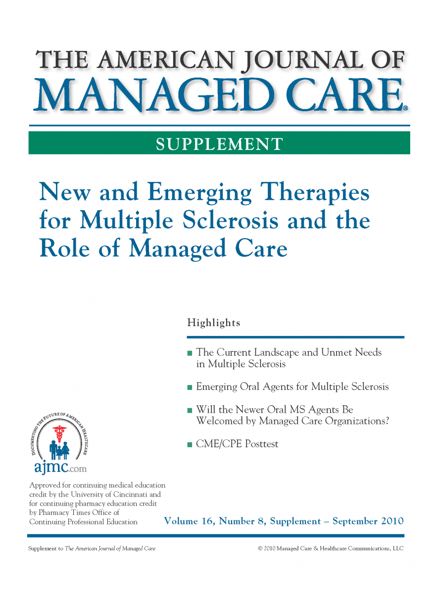 New and Emerging Therapies for Multiple Sclerosis and the Role of Managed Care [CME/CPE]