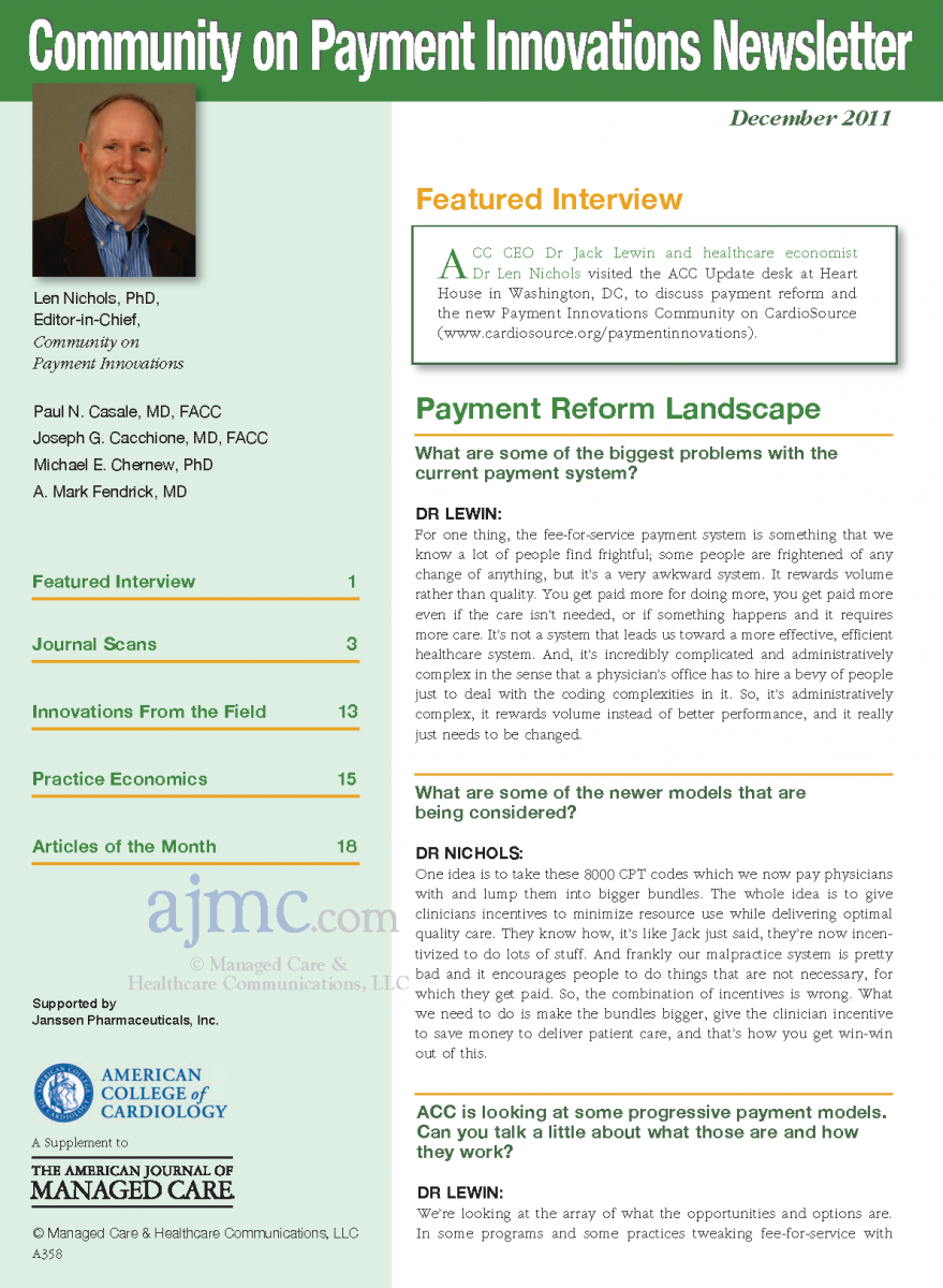 Community on Payment Innovations Newsletter - Dec 2011