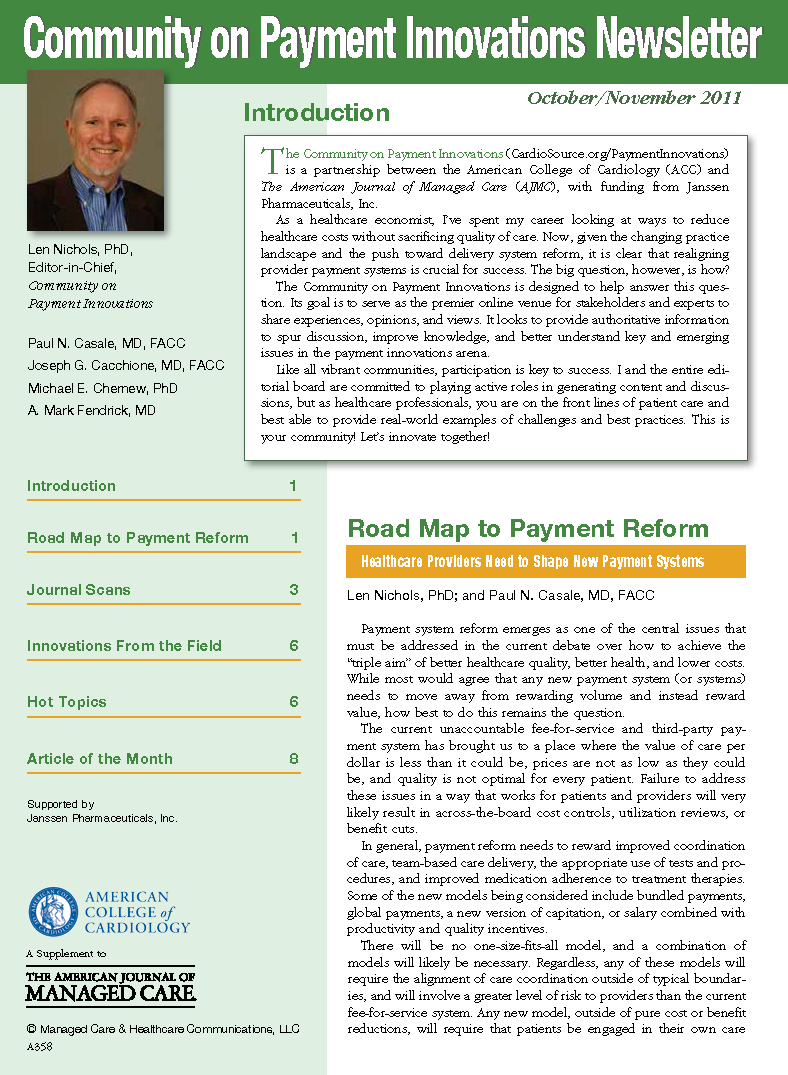 Community on Payment Innovations Newsletter - Oct/Nov 2011