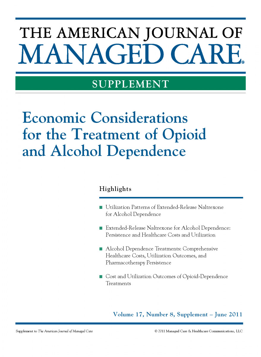 Economic Considerations for the Treatment of Opioid and Alcohol Dependence