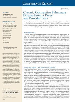 Chronic Obstructive Pulmonary Disease From a Payer and Provider Lens