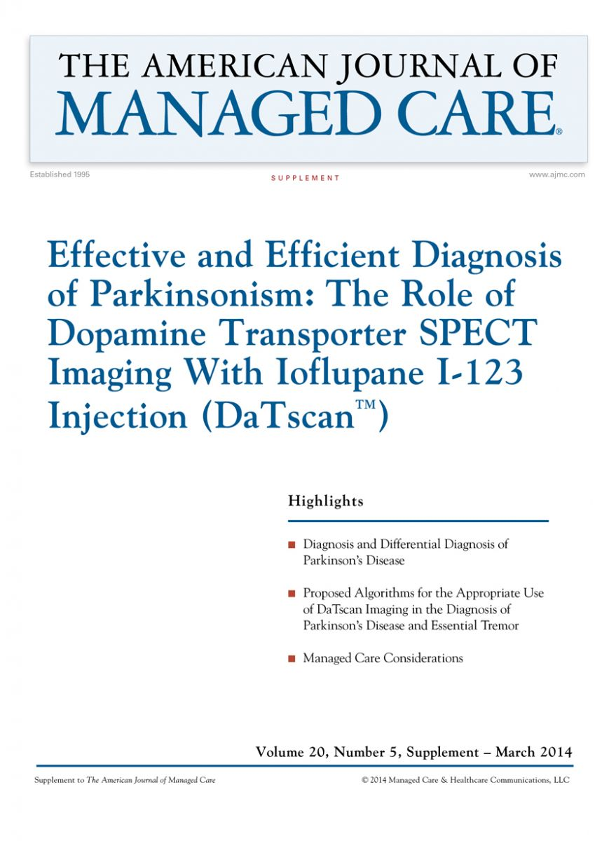 Effective and  Efficient Diagnosis  of Parkinsonism:  The Role of  Dopamine Transporter  SPECT Imaging  With Ioflupane I-123  Injection (DaTscan™)
