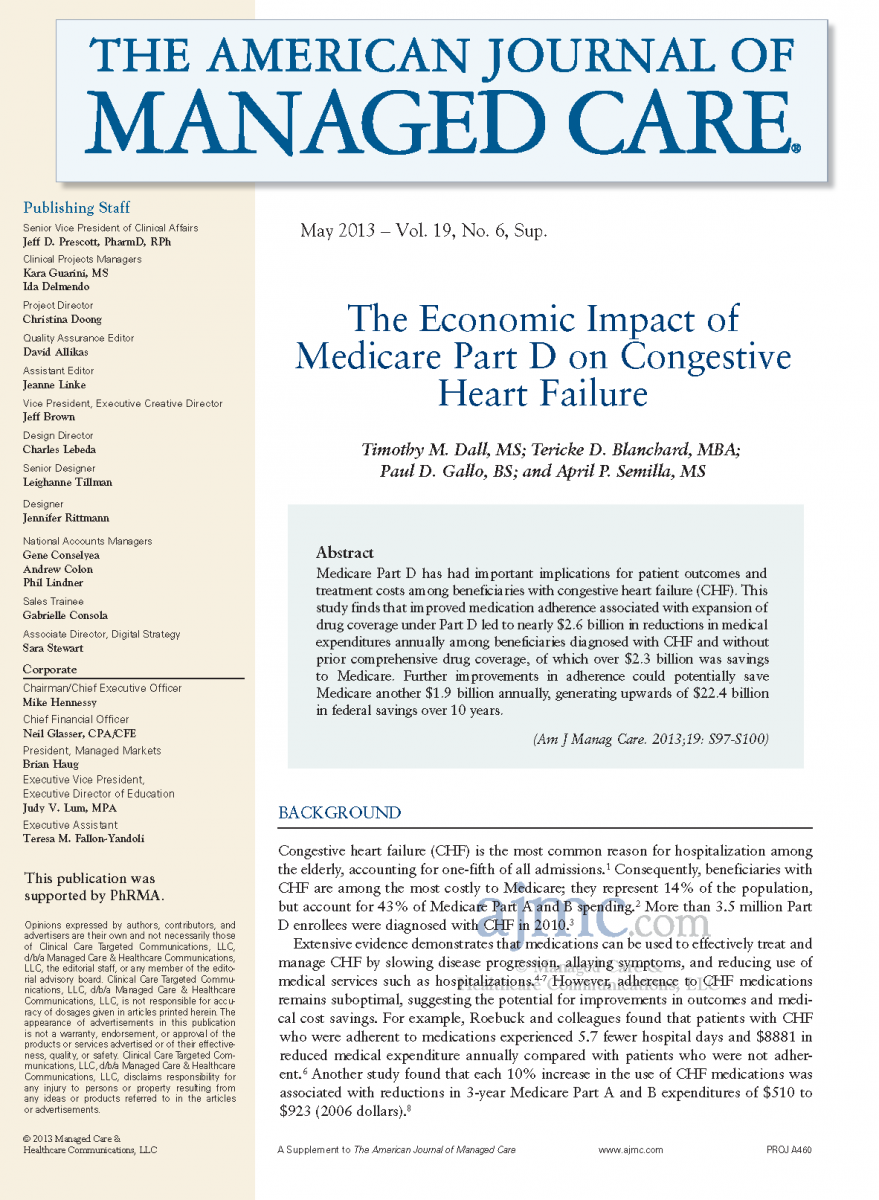 The Economic Impact of Medicare Part D on Congestive Heart Failure