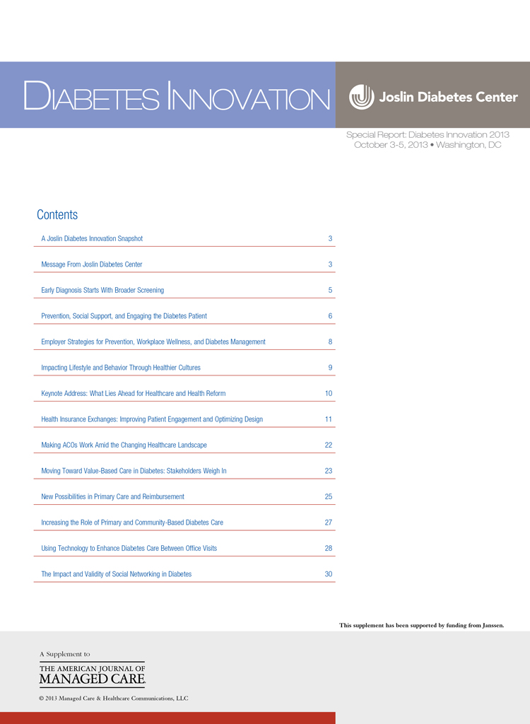 Special Report: Diabetes Innovation 2013