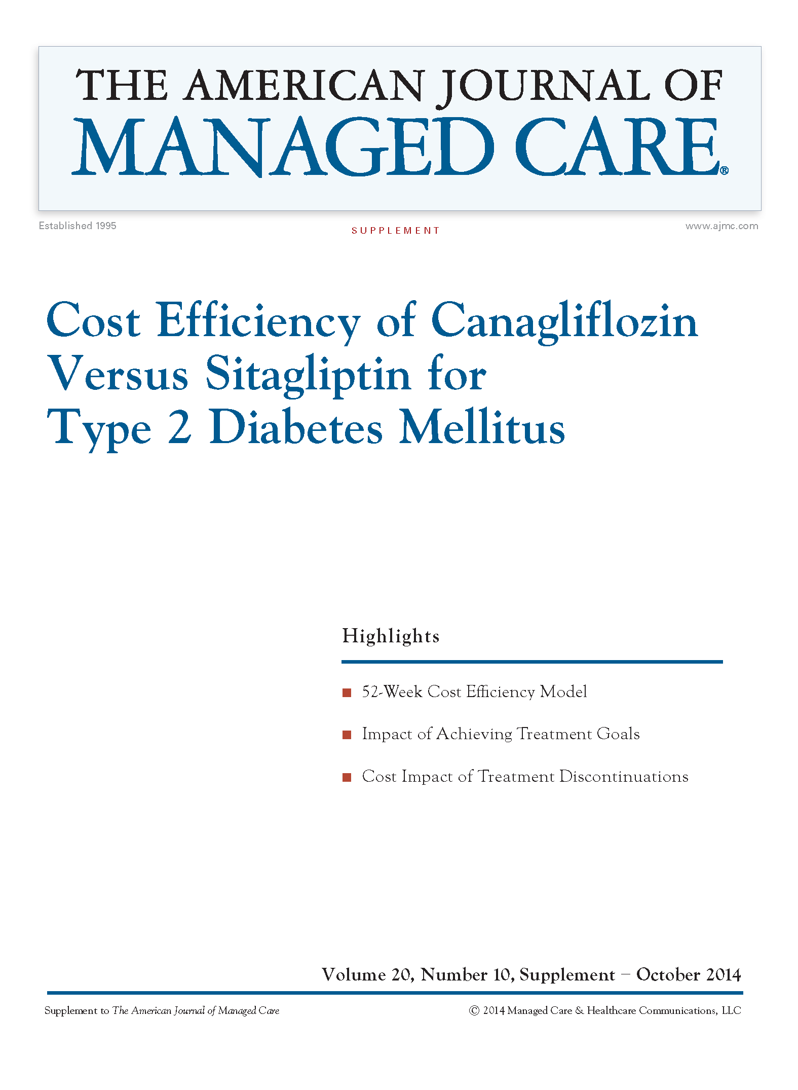 Cost Efficiency of Canagliflozin Versus Sitagliptin for Type 2 Diabetes Mellitus