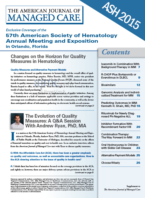 Exclusive Coverage of the 57th American Society of Hematology Annual Meeting and Exposition in Orlando, Florida