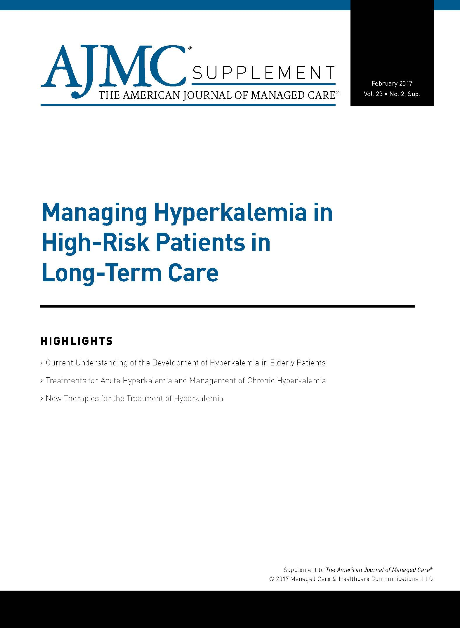 Managing Hyperkalemia in High-Risk Patients in Long-Term Care