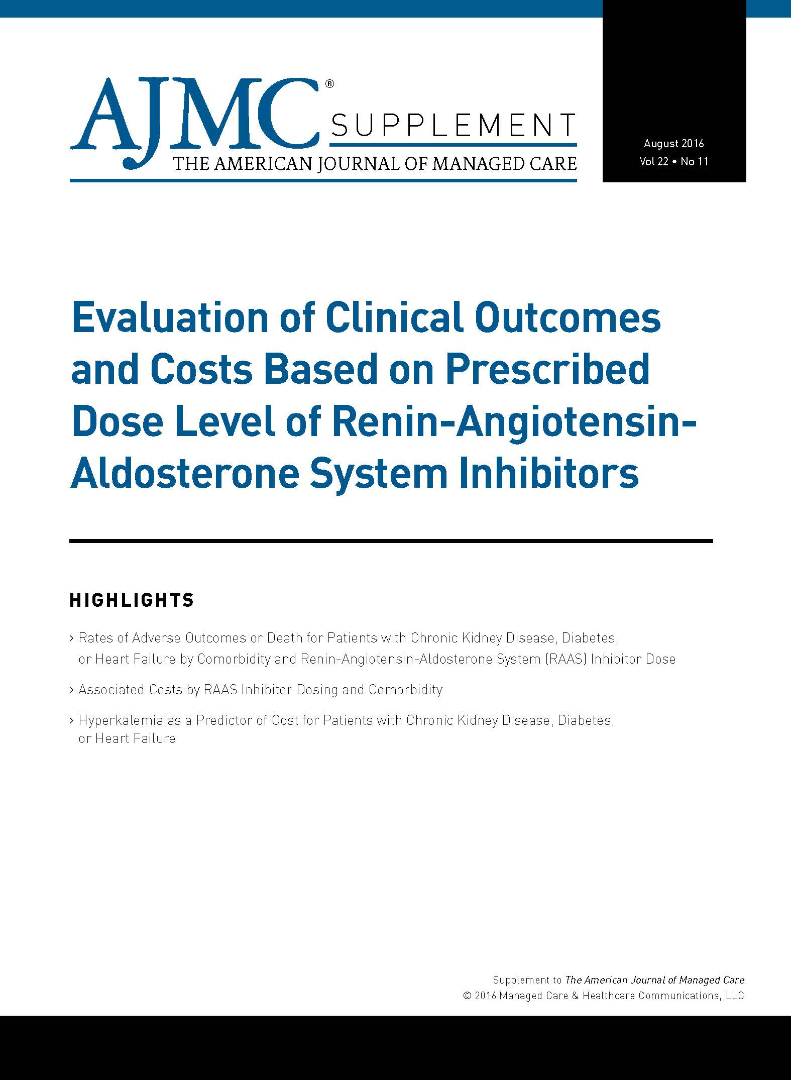 Evaluation of Clinical Outcomes and Costs Based on Prescribed Dose Level of Renin-Angiotensin-Aldosterone System Inhibitors