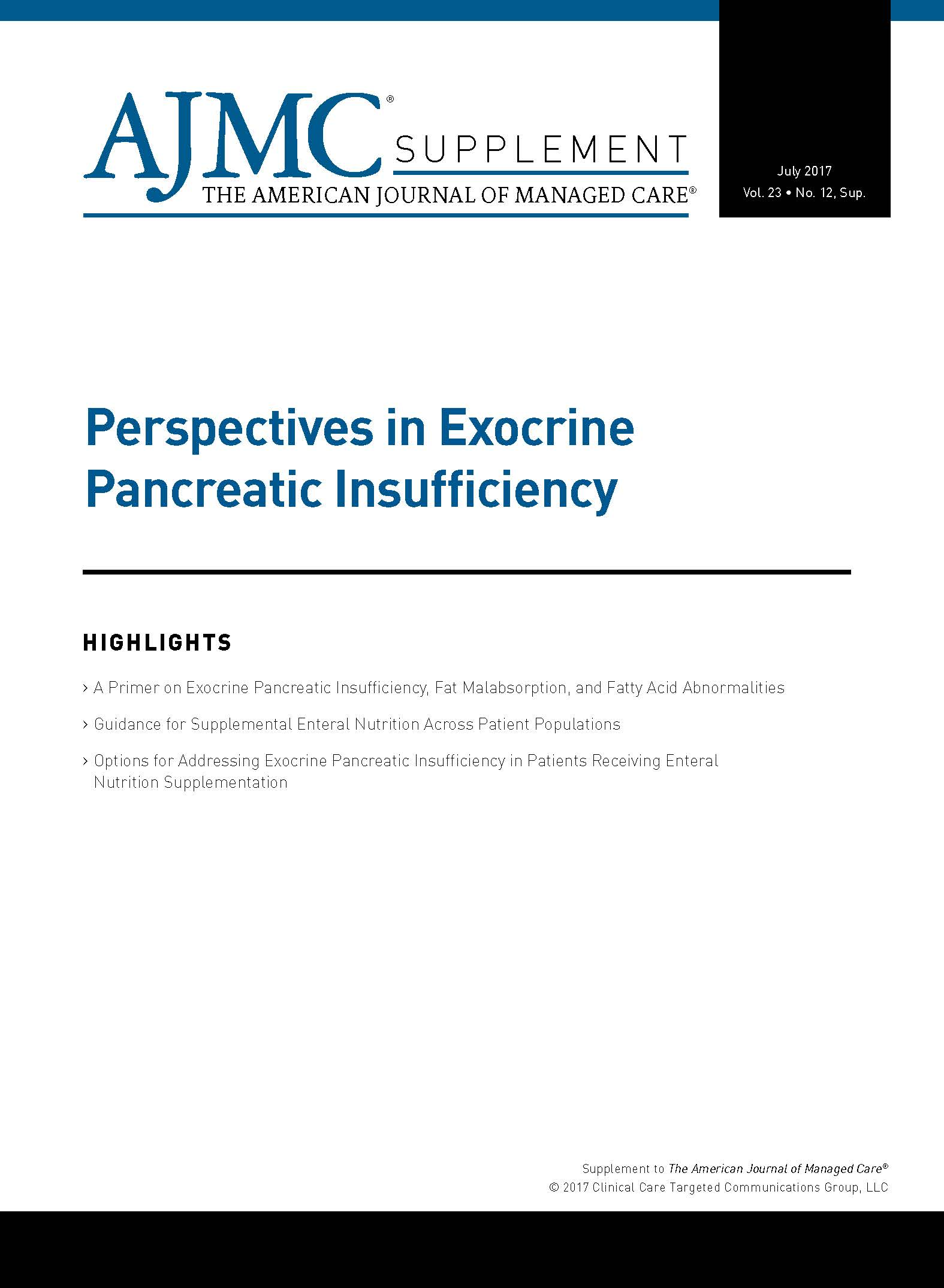 Perspectives in Exocrine Pancreatic Insufficiency