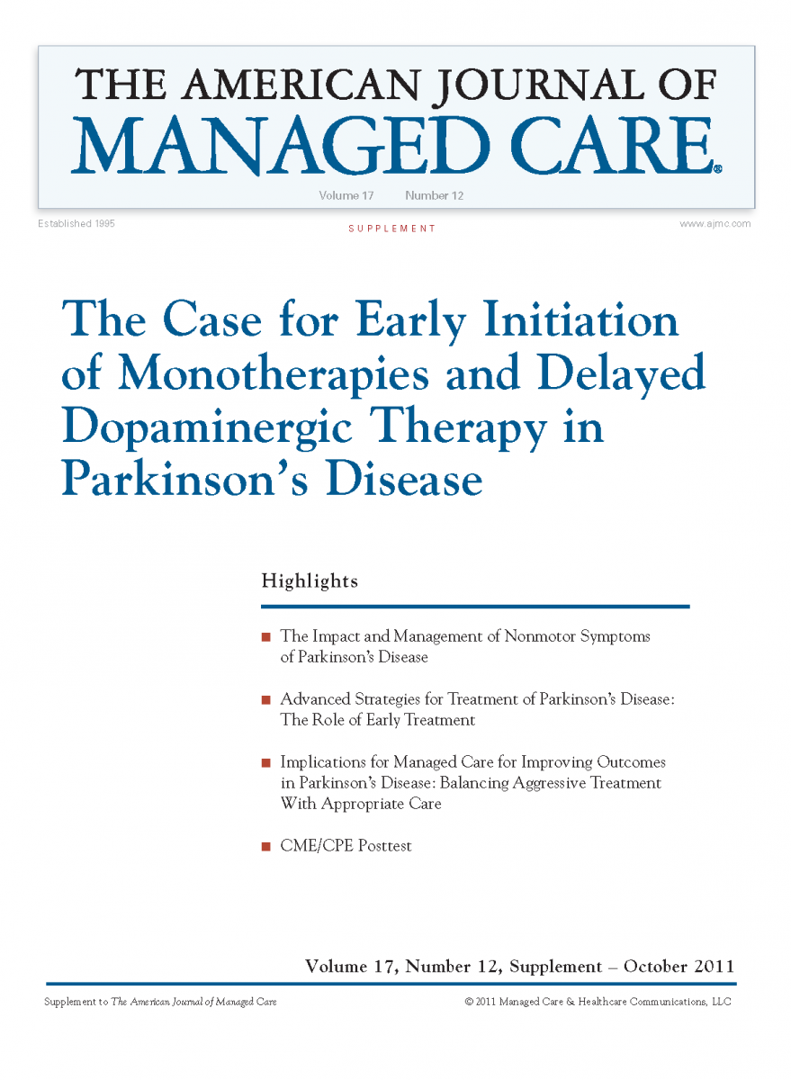 The Case for Early Initiation of Monotherapies and Delayed Dopaminergic Therapy in Parkinson's Disease [CME/CPE]