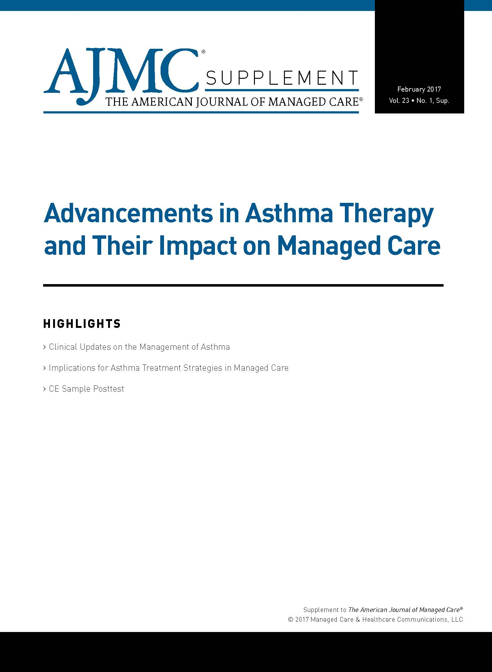 Advancements in Asthma Therapy and Their Impact on Managed Care
