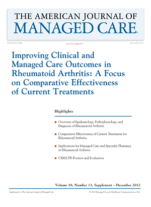 Improving Clinical and Managed Care Outcomes in Rheumatoid arthritis: a Focus on Comparative Effectiveness of Current Treatments [CME/CPE]