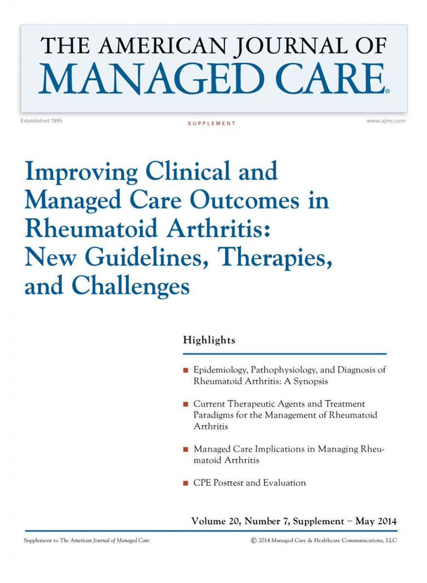 Improving Clinical and Managed Care Outcomes in Rheumatoid Arthritis: New Guidelines, Therapies, and Challenges [CPE]