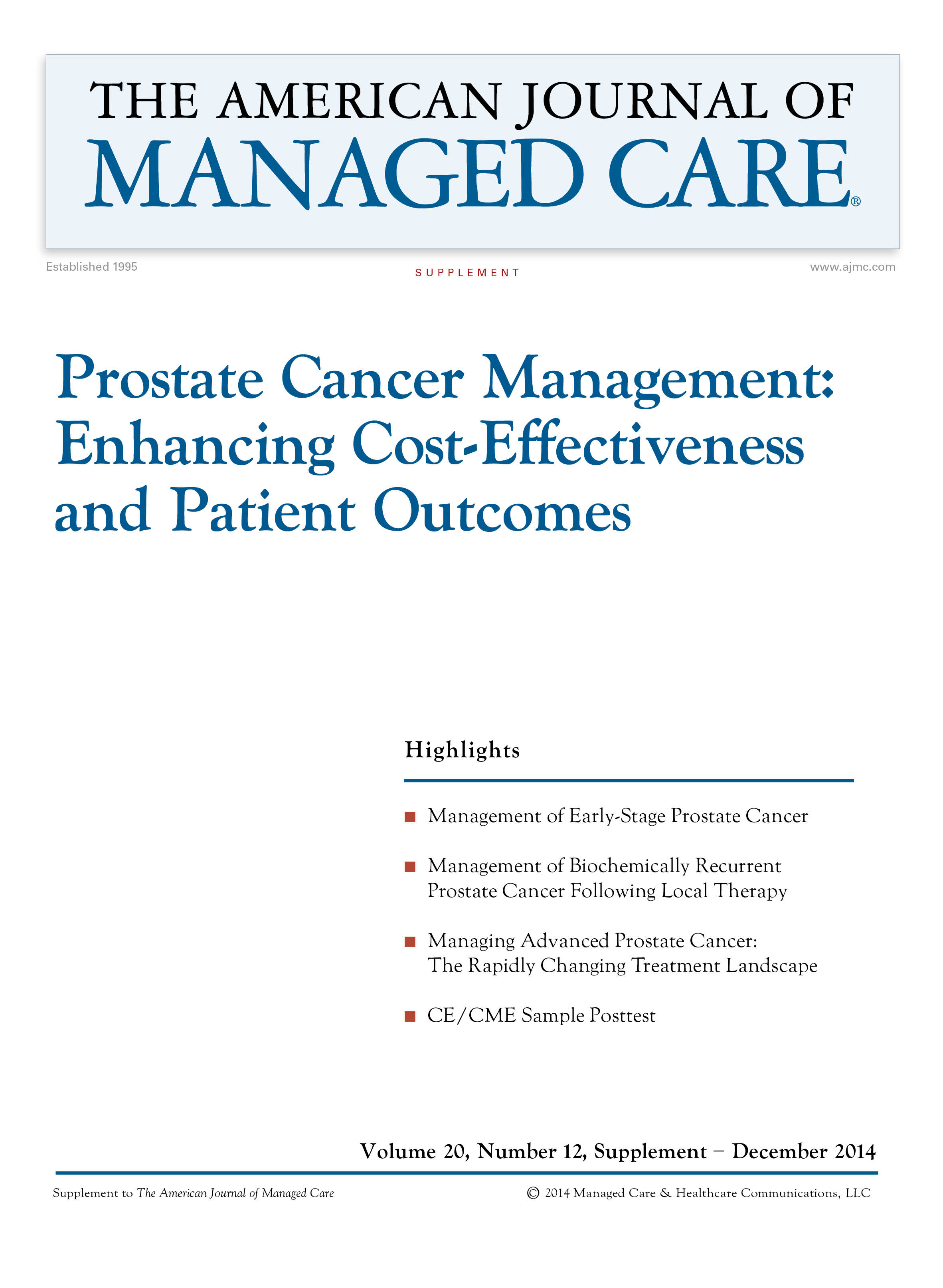 Prostate Cancer Management: Enhancing Cost-Effectiveness and Patient Outcomes [CME/CPE]