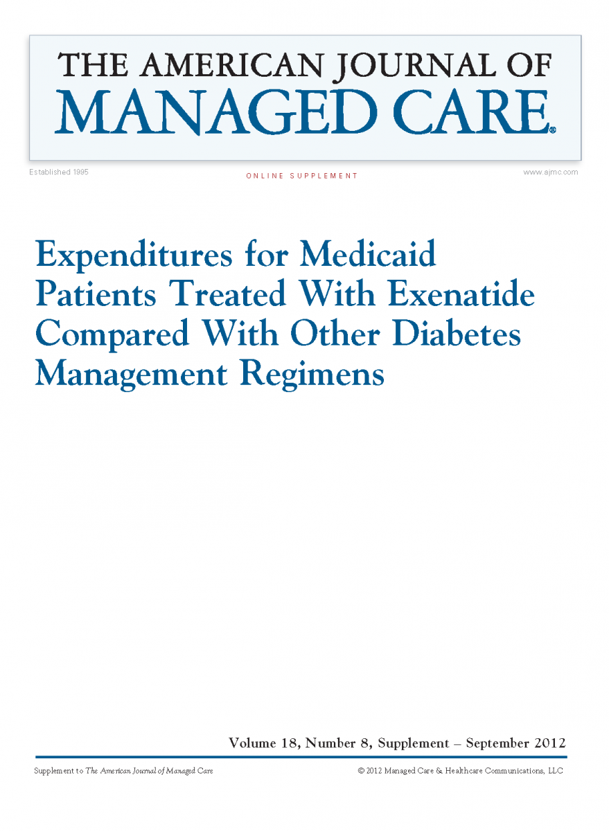Expenditures for Medicaid Patients Treated With Exenatide Compared With Other Diabetes Management Regimens