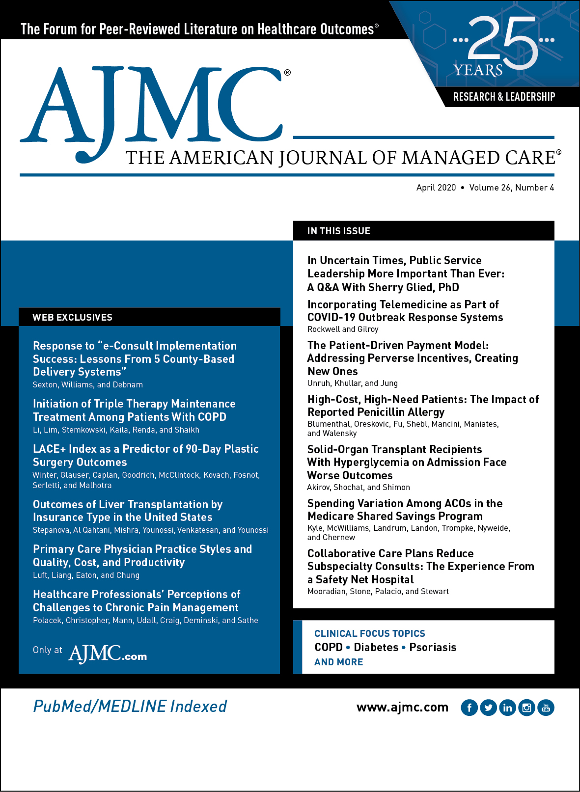 Cover of The American Journal of Managed Care