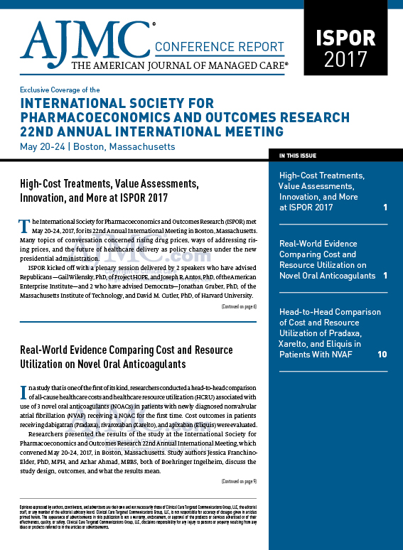 Exclusive Coverage of the INTERNATIONAL SOCIETY FOR  PHARMACOECONOMICS AND OUTCOMES RESEARCH 22ND ANNUAL INTERNATIONAL MEETING