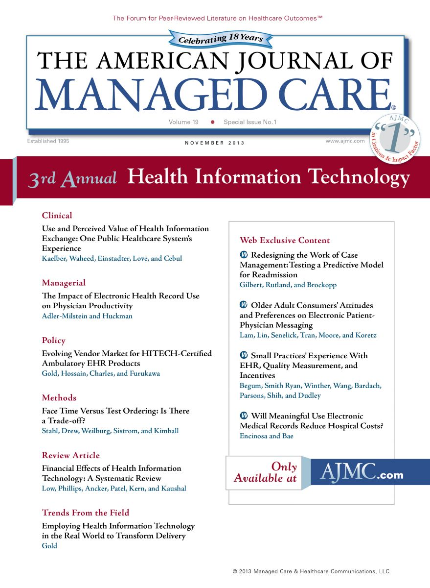 Special Issue: Health Information Technology - Guest Editor: Farzad Mostashari, MD, ScM