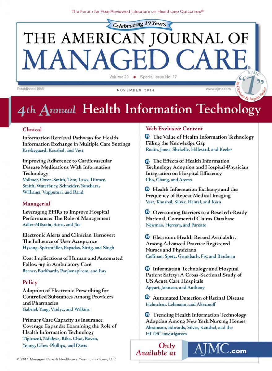 Special Issue: Health Information Technology