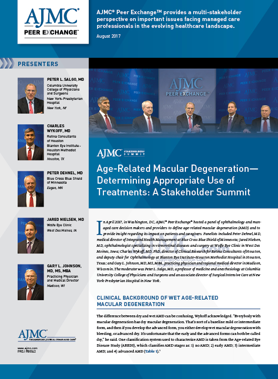 Age-Related Macular Degeneration—Determining Appropriate Use of Treatments: A Stakeholder Summit
