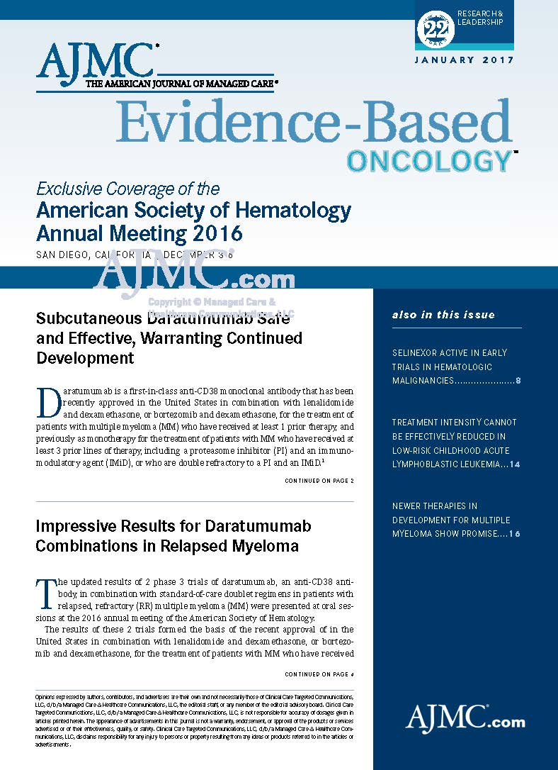 Exclusive Coverage of the American Society of Hematology Annual Meeting 2016