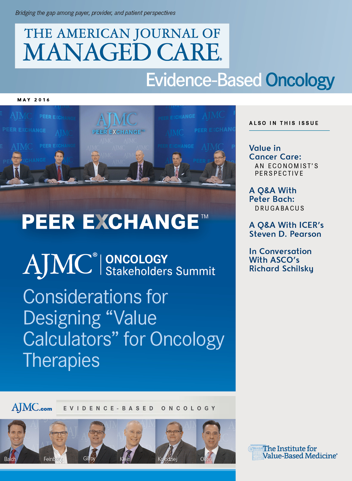 Peer Exchange: Spring 2016 Oncology Stakeholders Summit