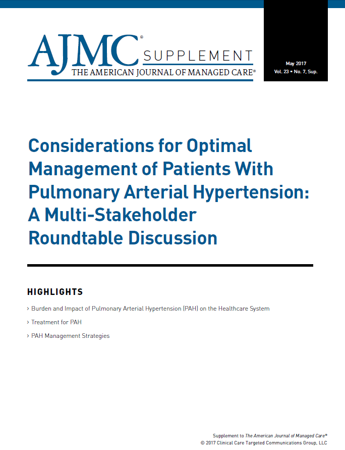 Supplement | Considerations for Optimal Management of Patients With Pulmonary Arterial Hypertension: A Multi-Stakeholder Roundtable Discussion