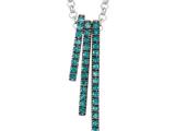 Blue diamond stick pendant