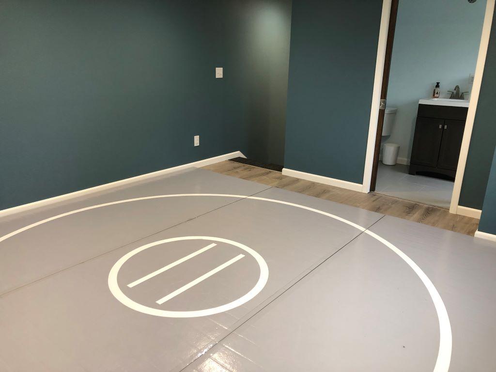 home wrestling practice mat