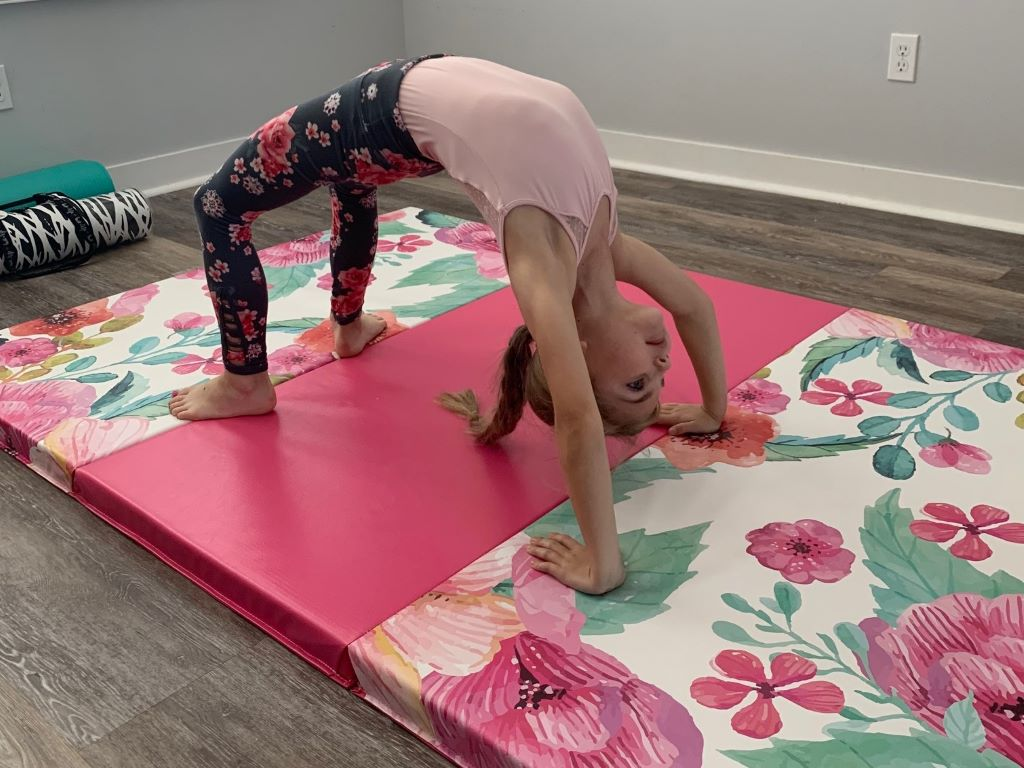 pretty kids gymnastics mat