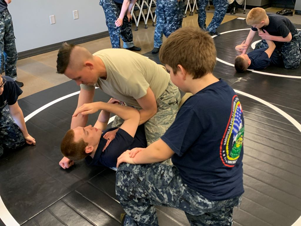 Navy Grappling Mats