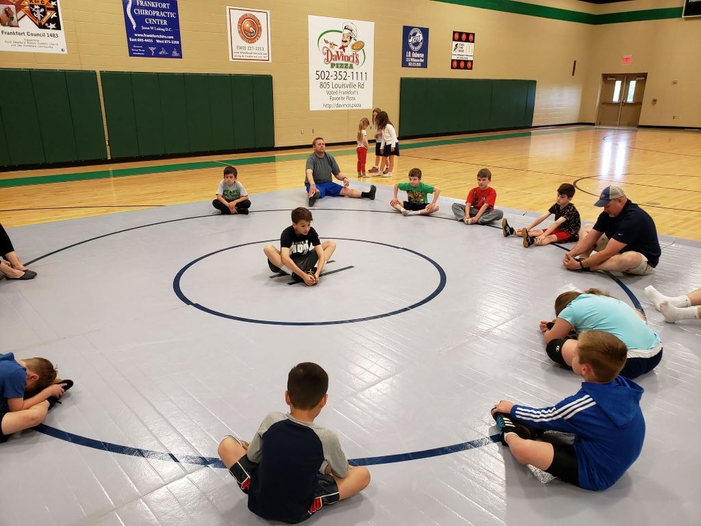 Grey wrestling mat AK Athletics