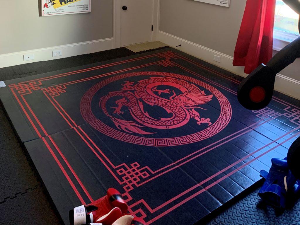 home jiu jitsu practice room mat