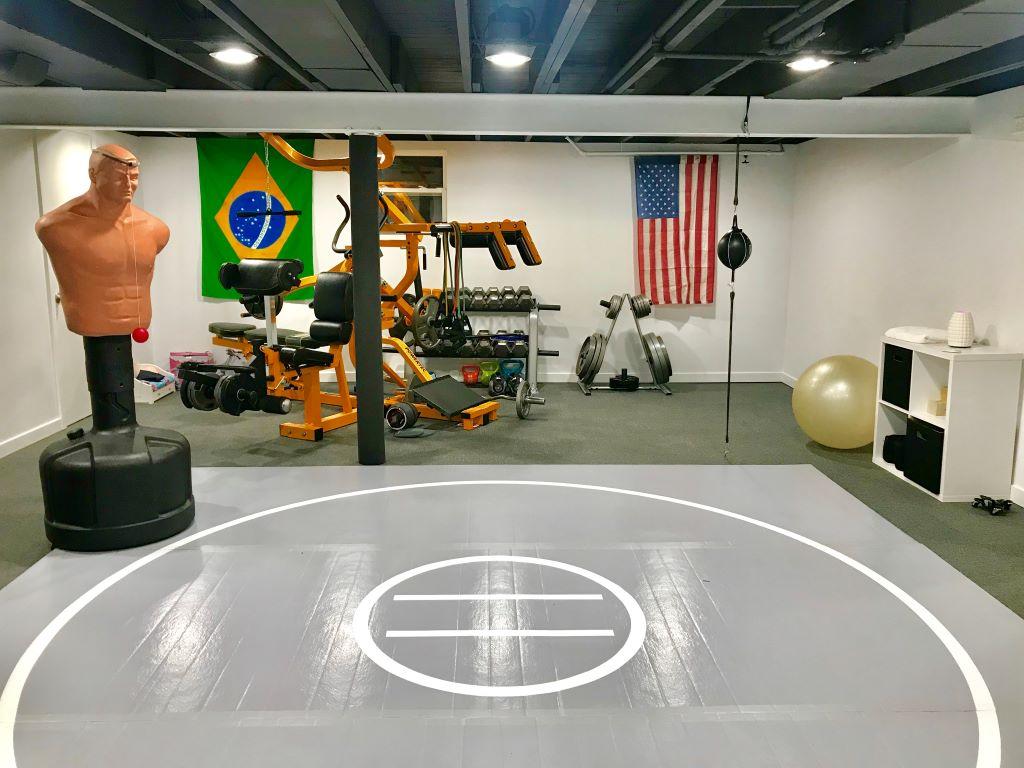 "Grey home 1 5/8"" wrestling mat"
