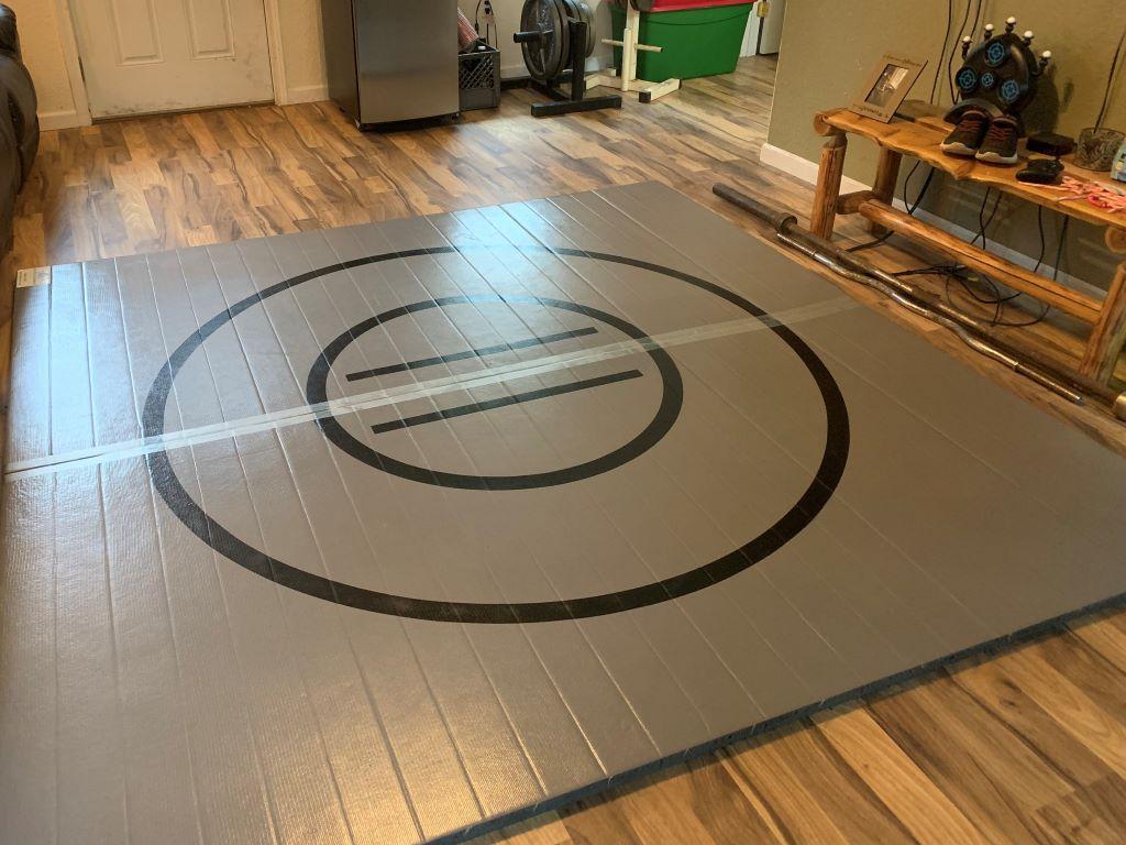 grey ak wrestling mat home