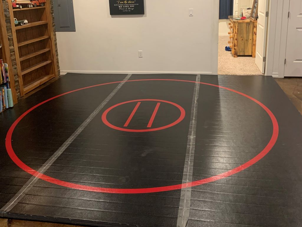 wrestling room competition style wrestling mat