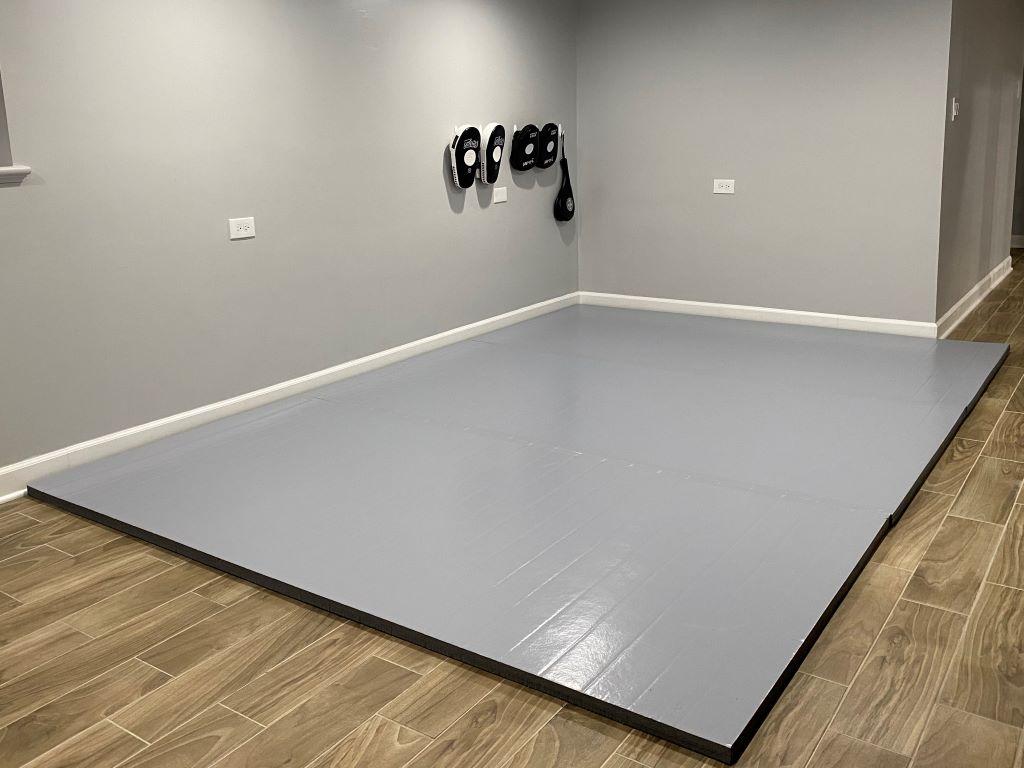 mma room, MMA Mat, Grey home mma mat