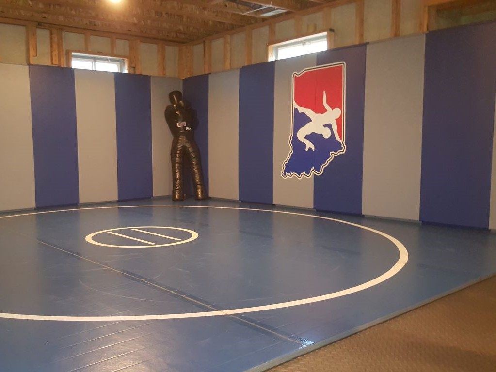 Home practice wrestling area