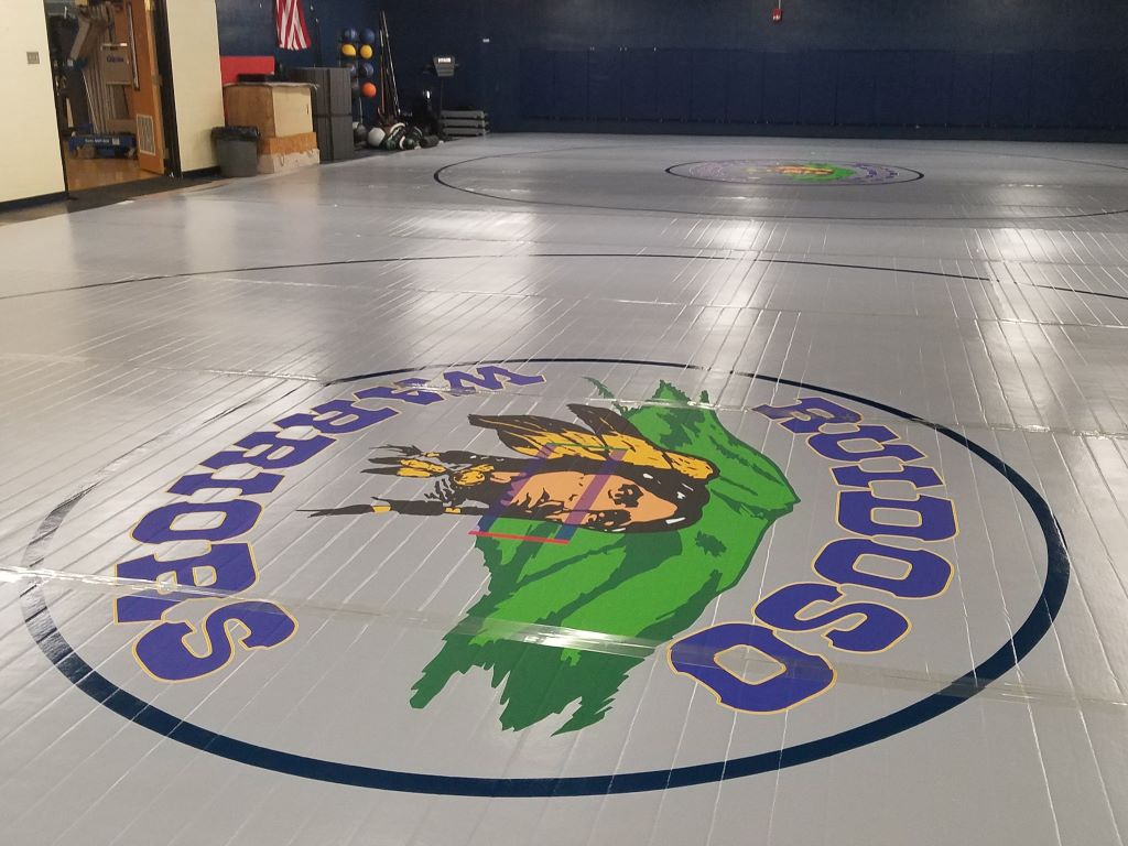 NCAA high school competition mats