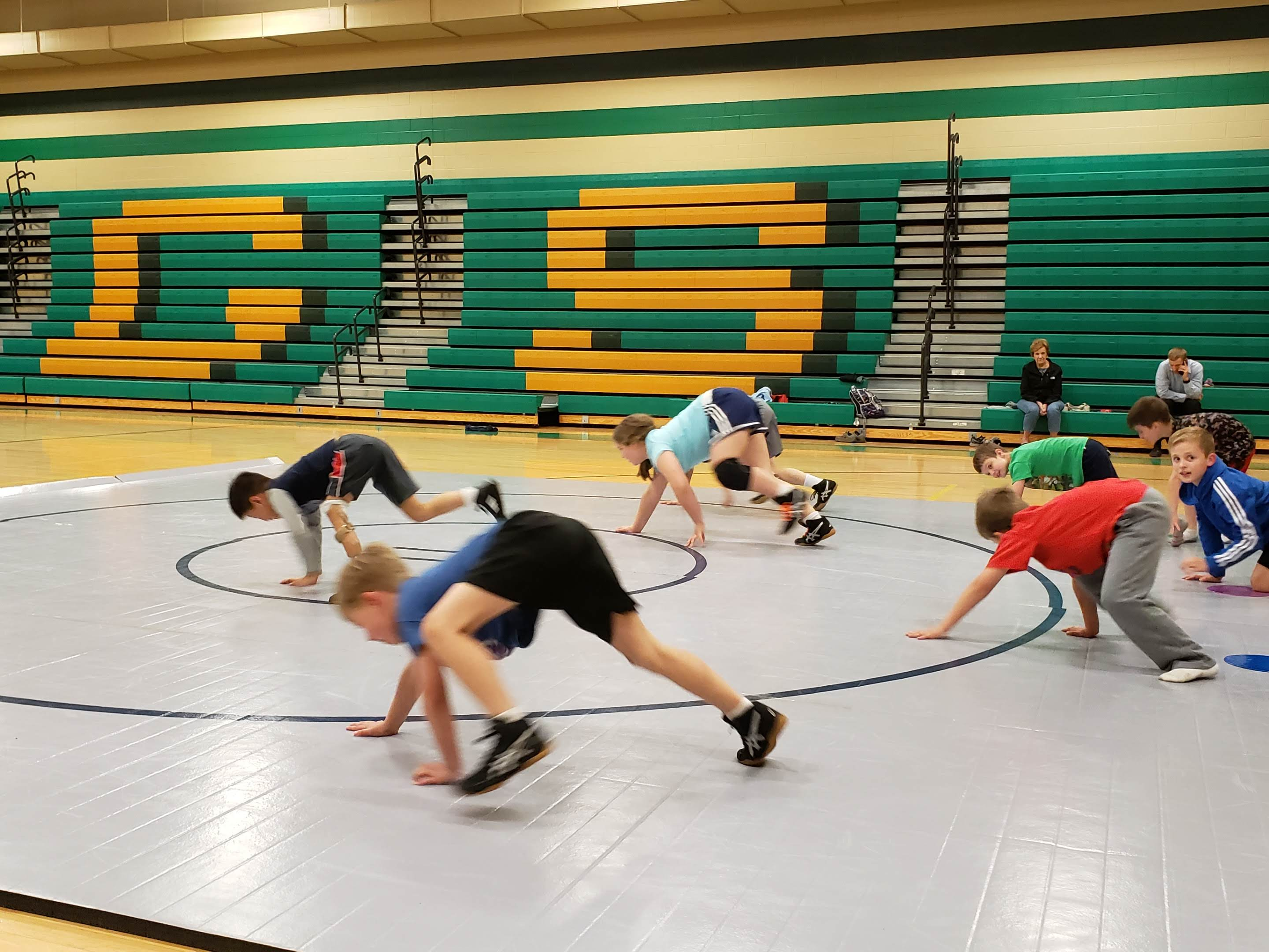 NCAA high school wrestling mats practice