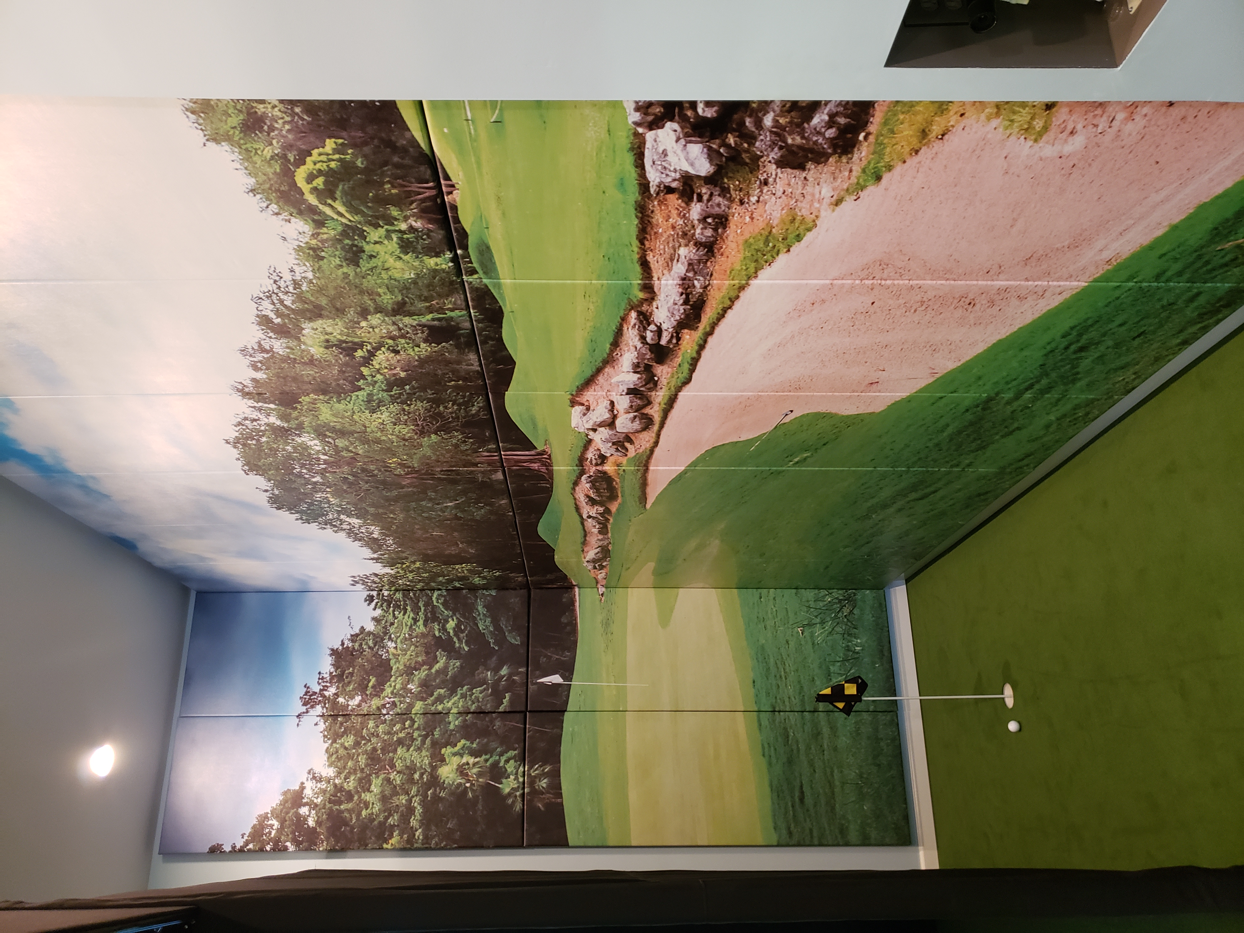 Graphic Image of Golf Course in Golf Simulator Wall Pads