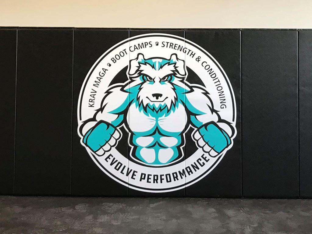 Martial arts room wall mats