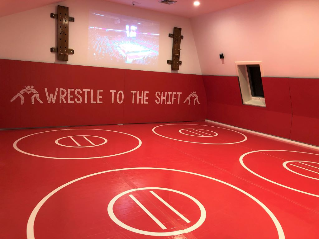 DIY wrestling room