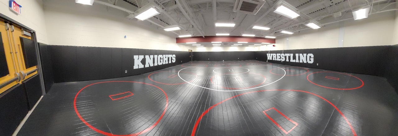 High School Practice Wrestling Room, Practice circle and competition circle