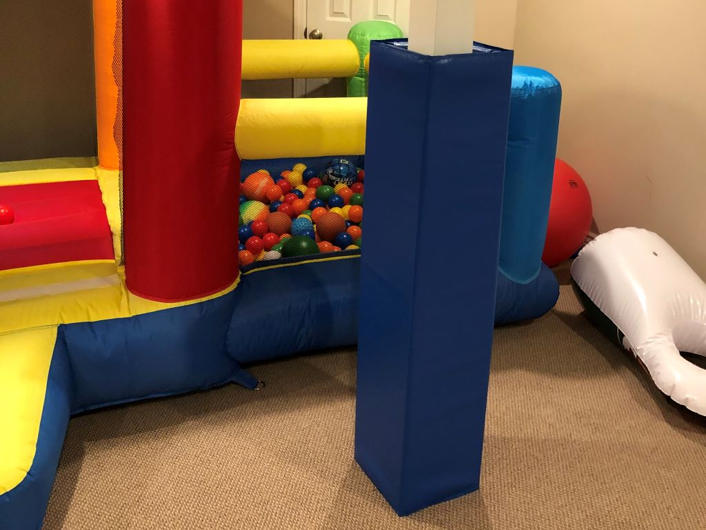 Sensory room square pole pads