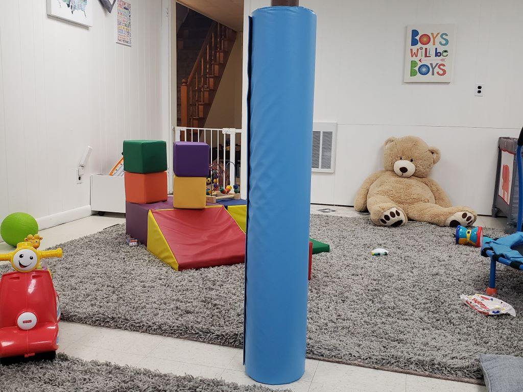 Home Playroom Support Beam Pad
