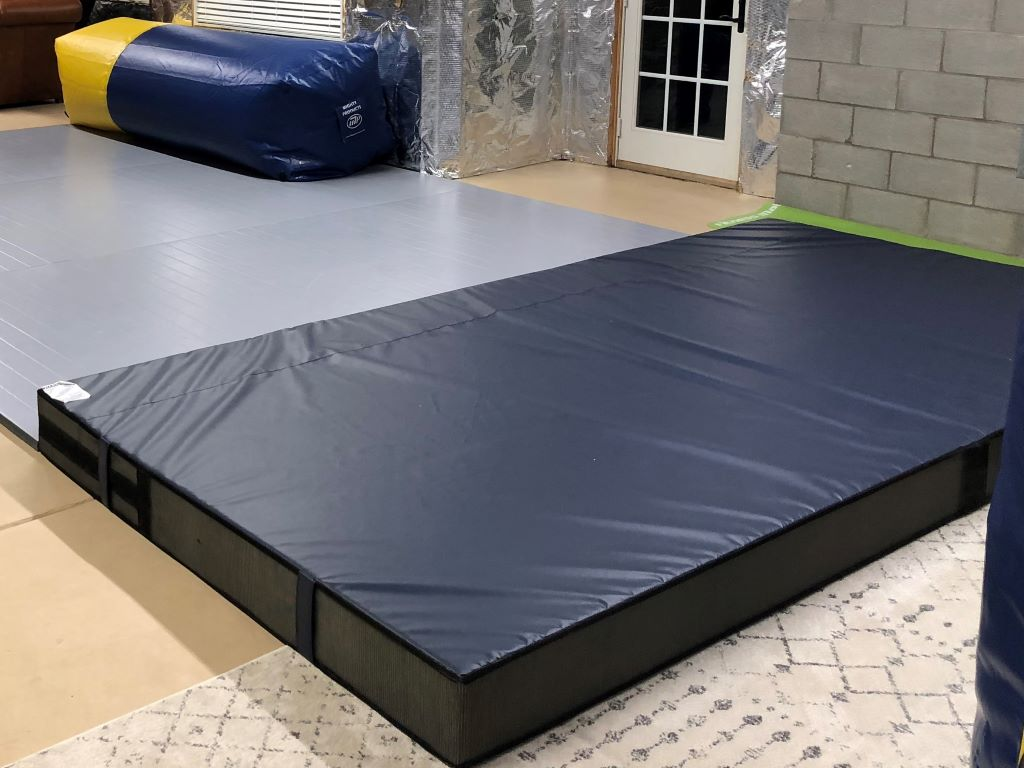 Home wrestling practice landing mats