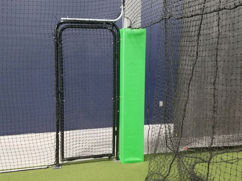 baseball facility square pole pad