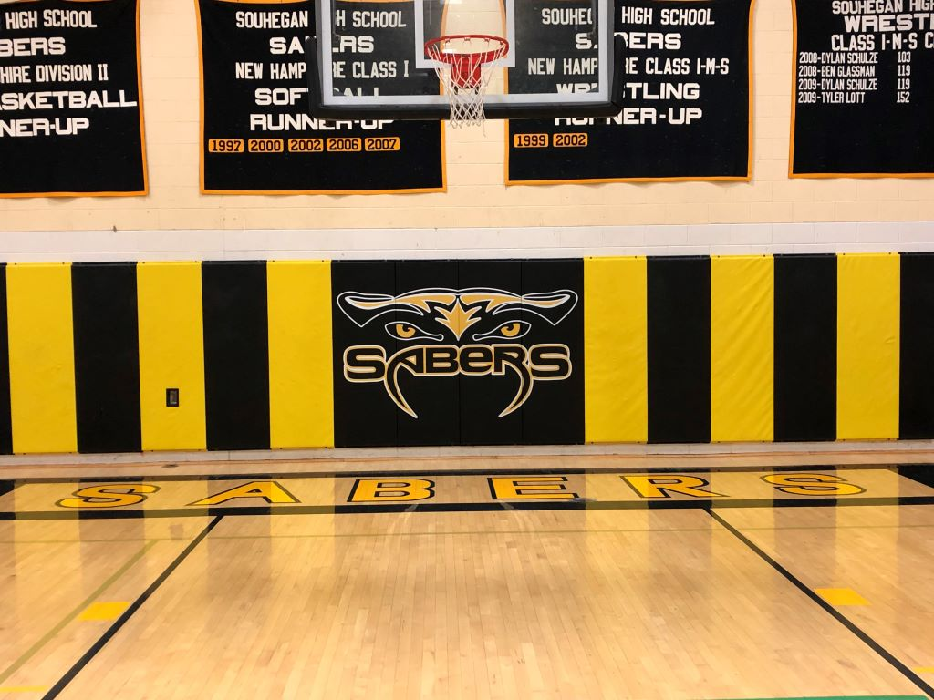 Basketball School Logo Wall Safety Pads